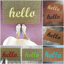 Doormat - Hello Script Custom Doormat