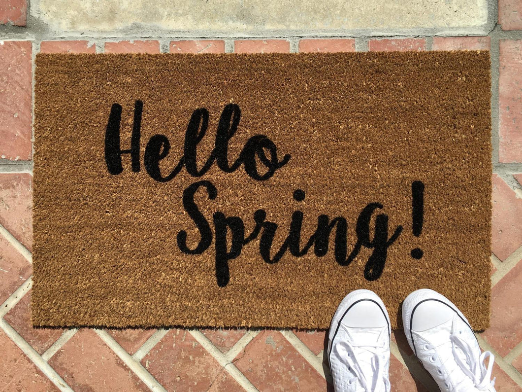 Doormat - Hello Spring Custom Doormat