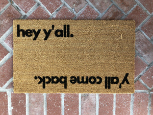 Doormat - Hey Y'all Reversible Outdoor Funny Doormat