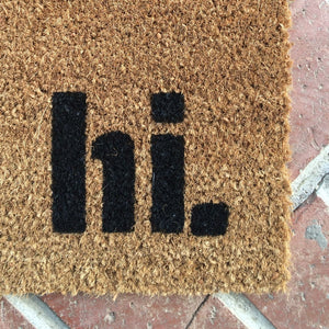 Doormat - Hi. Welcome Mat Customized Doormat