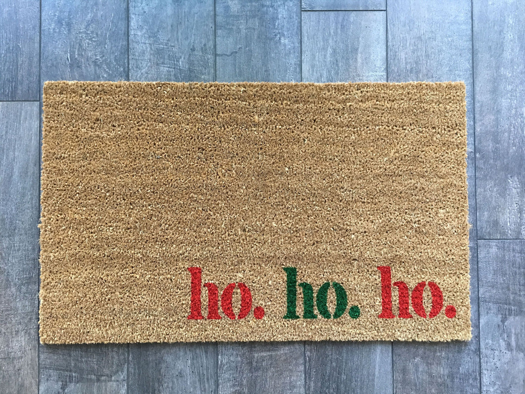 Doormat - Ho. Ho. Ho. Holiday Doormat