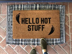 Doormat - Hot Stuff Doormat / Rude Doormat / Funny Doormat / Front Door Mat