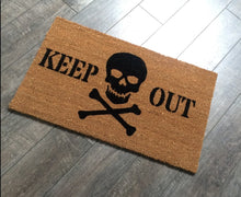 Doormat - Keep Out Doormat /Skull Welcome Mat