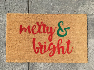 Doormat - Merry & Bright Custom Holiday Doormat