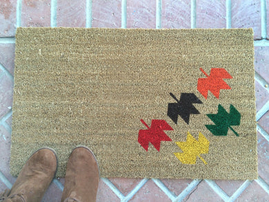 Doormat - Modern Fall Leaves Doormat