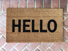 Doormat - Modern HELLO Doormat / Custom Welcome Mat / Housewarming Doormat / Summer Doormat