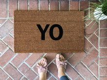Doormat - Modern YO Doormat / Custom Welcome Mat / Housewarming Doormat / Summer Doormat