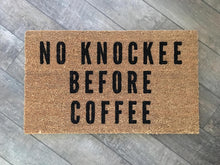 Doormat - No Knockee Before Coffee Doormat