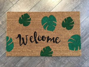 Doormat - Palm Leaves Welcome Mat