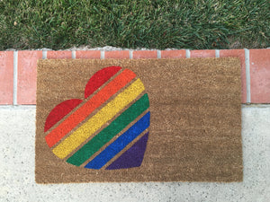 Doormat - Pride Heart Outdoor Door Mat