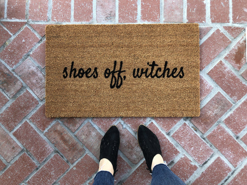 Doormat - Shoes Off Witches Funny Halloween Doormat