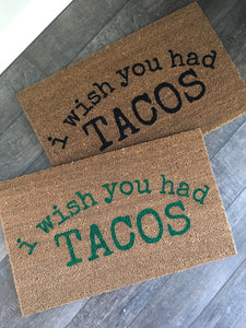 Doormat - Tacos, Pizza Food Custom Personalized Funny Doormat