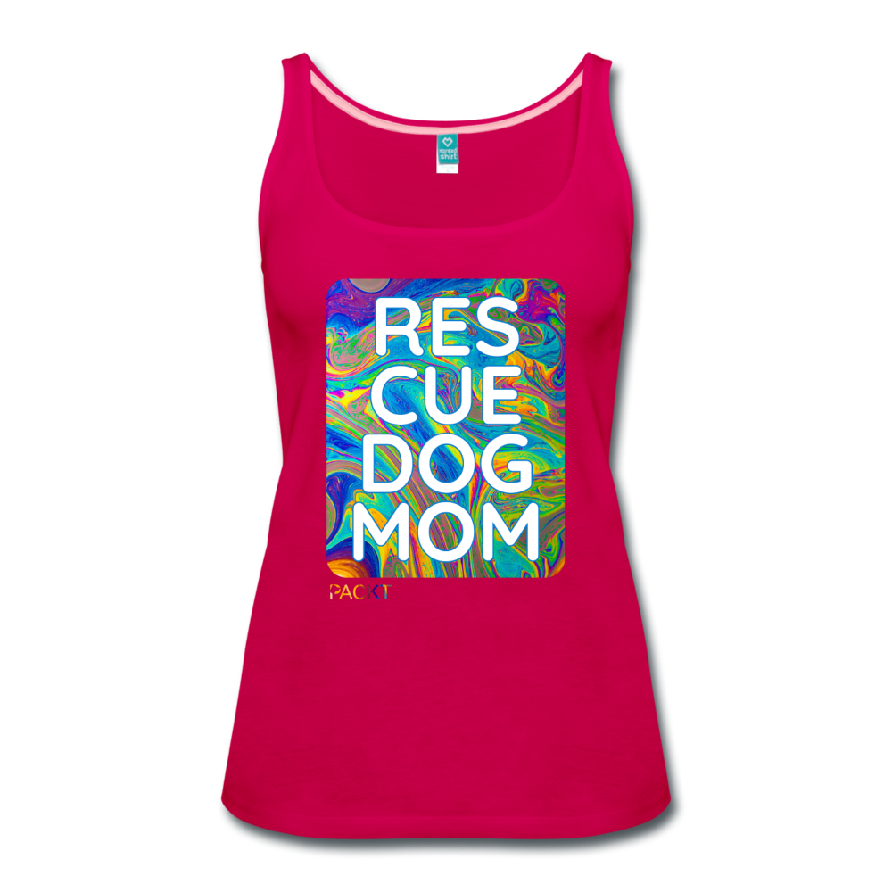 Res-Cue-Dog-Mom - Women's Tank - dark pink