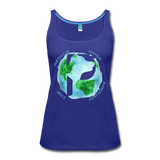 Women's Premium Tank Top - Rescue Dogs Around the World - royal blue