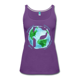 Women's Premium Tank Top - Rescue Dogs Around the World - purple