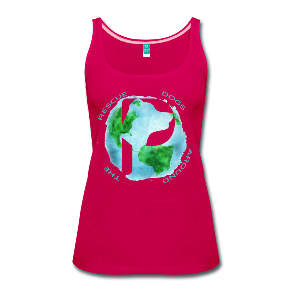 Women's Premium Tank Top - Rescue Dogs Around the World - dark pink