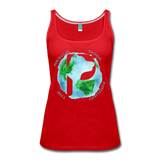 Women's Premium Tank Top - Rescue Dogs Around the World - red