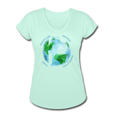 Women's V-Neck - Rescue Dogs Around The World - mint