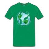 Men's Premium T-Shirt - Rescue Dogs Around The World - kelly green