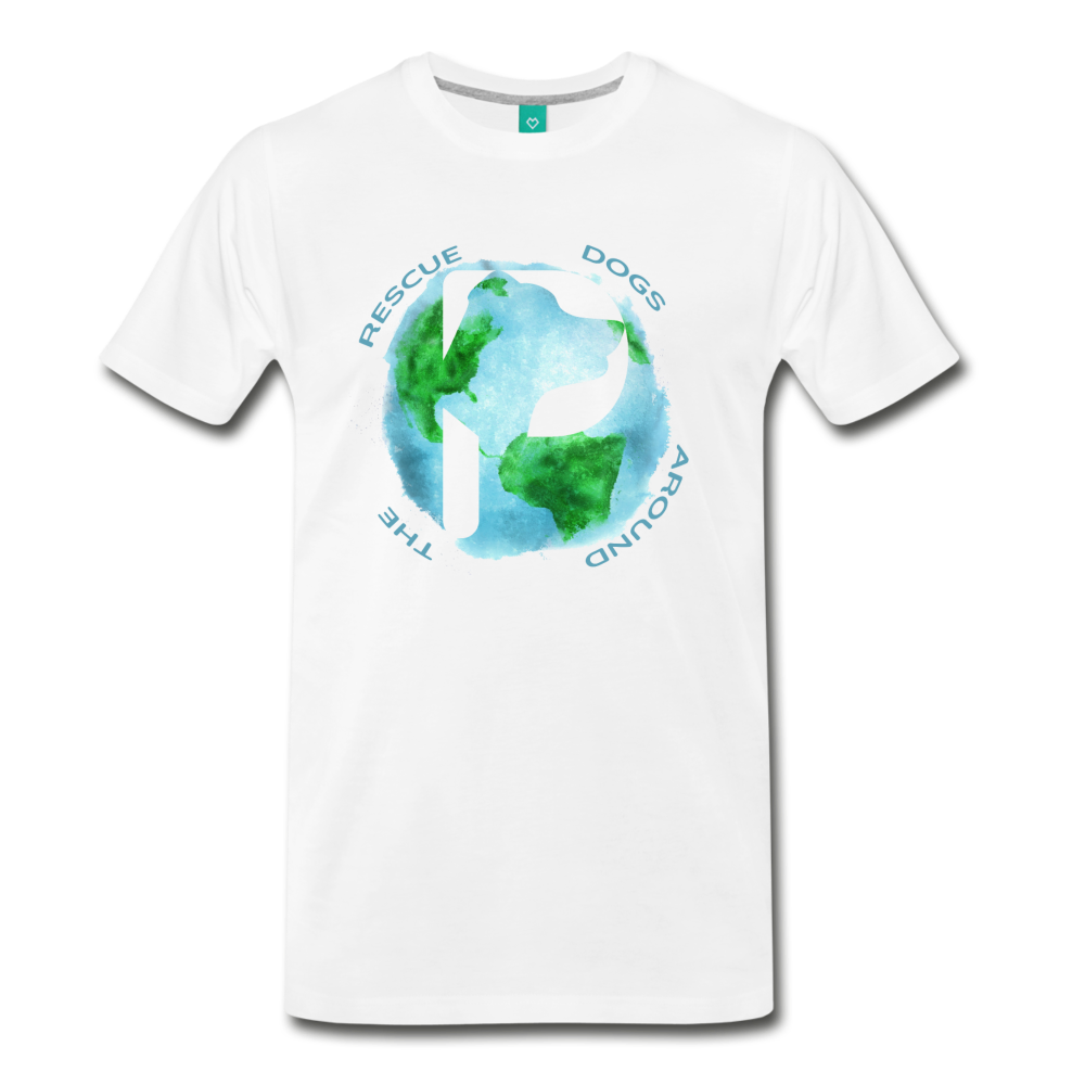 Men's Premium T-Shirt - Rescue Dogs Around The World - white