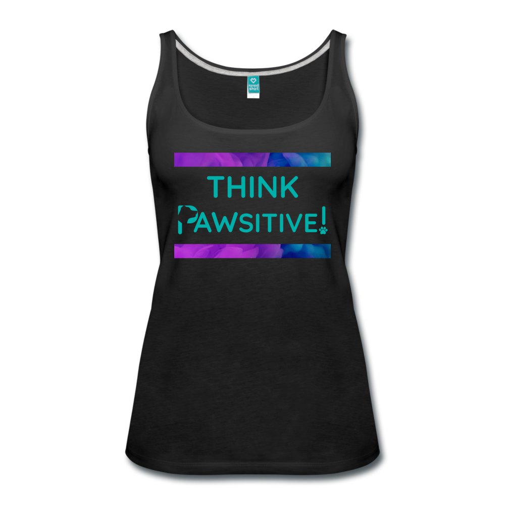 """Think PAWSITIVE!"" - Tank - black"