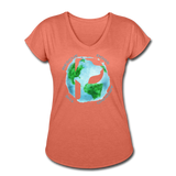 Women's V-Neck - Rescue Dogs Around The World - heather bronze