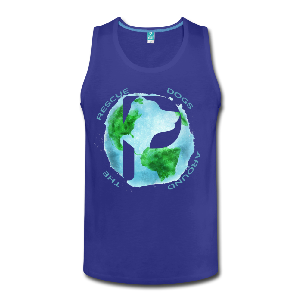 Rescue Dogs Around the World - Men's Tank - royal blue