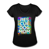 Womens V-Neck - Rescue Dog Mom - black