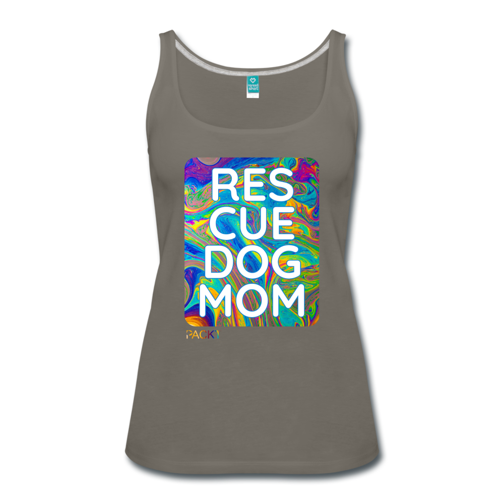 Res-Cue-Dog-Mom - Women's Tank - asphalt gray