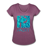 Water Dog - Women's V-Neck T-Shirt - heather plum