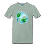 Men's Premium T-Shirt - Rescue Dogs Around The World - steel green
