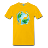 Men's Premium T-Shirt - Rescue Dogs Around The World - sun yellow
