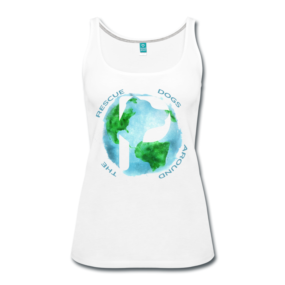 Women's Premium Tank Top - Rescue Dogs Around the World - white