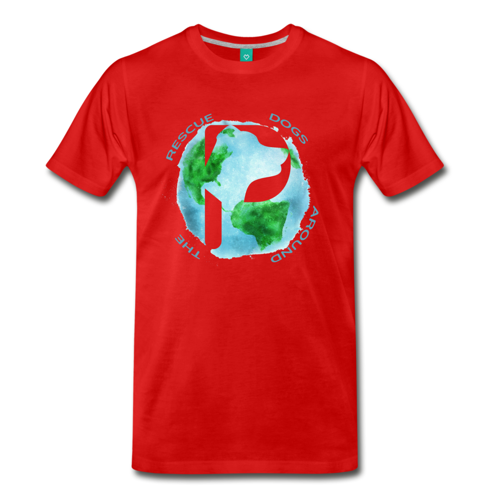 Men's Premium T-Shirt - Rescue Dogs Around The World - red