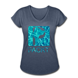 Water Dog - Women's V-Neck T-Shirt - navy heather
