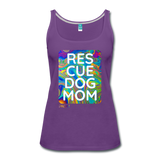 Res-Cue-Dog-Mom - Women's Tank - purple