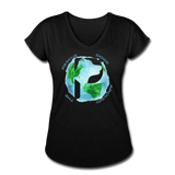 Women's V-Neck - Rescue Dogs Around The World - black