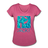 Water Dog - Women's V-Neck T-Shirt - heather raspberry