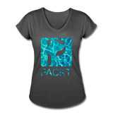Water Dog - Women's V-Neck T-Shirt - deep heather