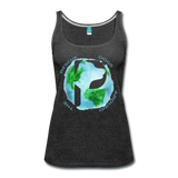 Women's Premium Tank Top - Rescue Dogs Around the World - charcoal gray