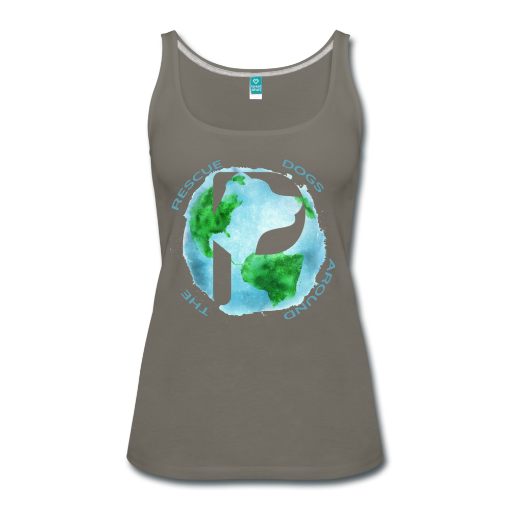 Women's Premium Tank Top - Rescue Dogs Around the World - asphalt gray