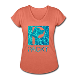 Water Dog - Women's V-Neck T-Shirt - heather bronze