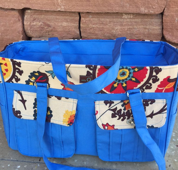 Knitting Bag with Pockets, Pockets, Pockets