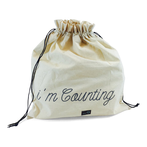"Edict Project Bag-Large ""Shh...I'm Counting"""
