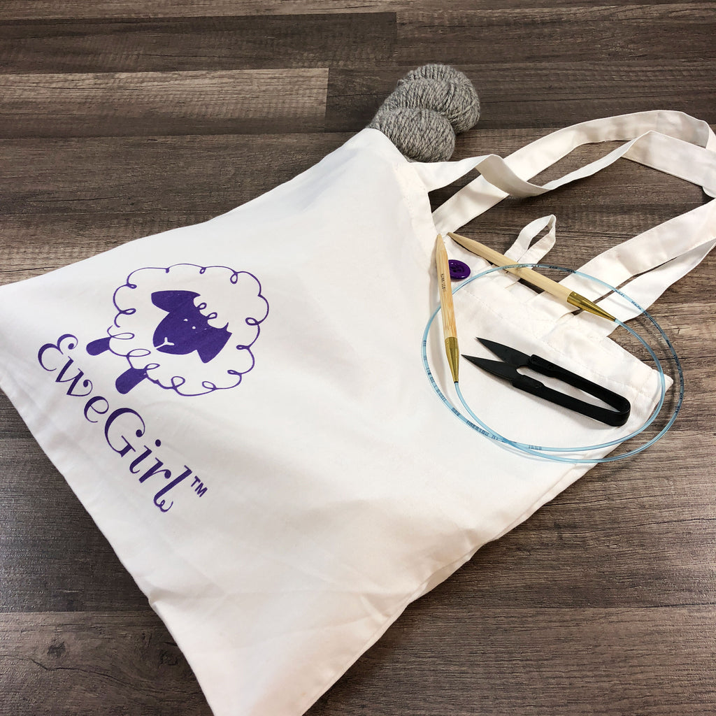 EweGirl™ Small Tote Bag-White