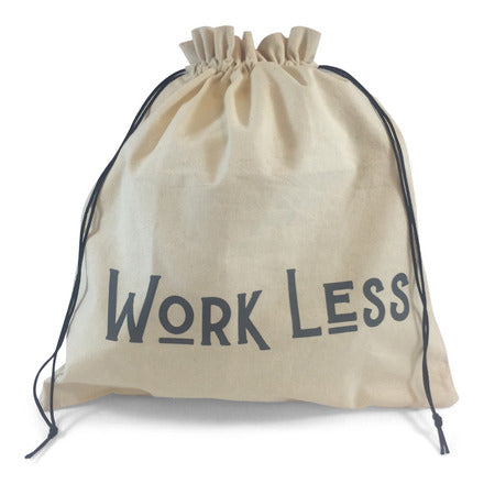 "Edict Project Bag-Large ""Work Less, Knit More"""