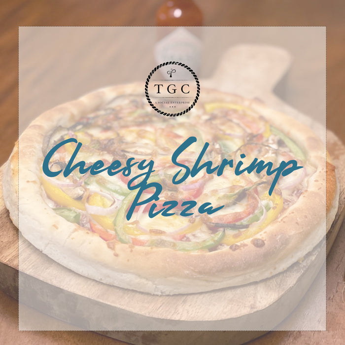 Cheesy Shrimp Pizza