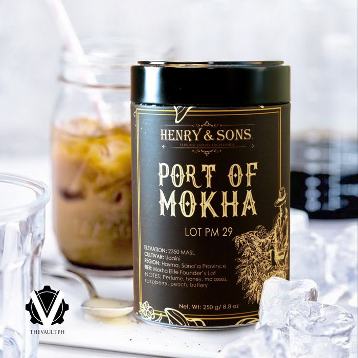 Yemen Port of Mokha Lot PM 29, Roasted Beans in can, 250 grams