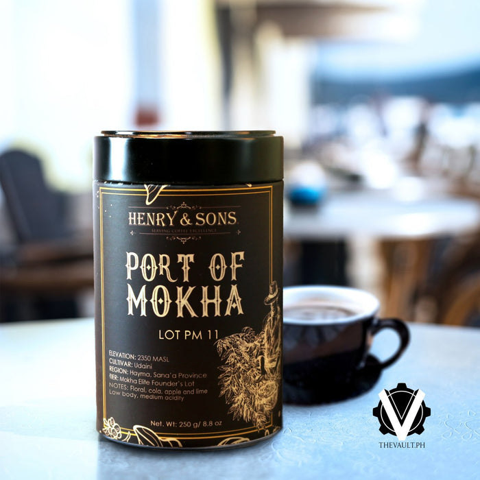 Yemen Port of Mokha Lot PM 11, Roasted Beans in can, 250 grams