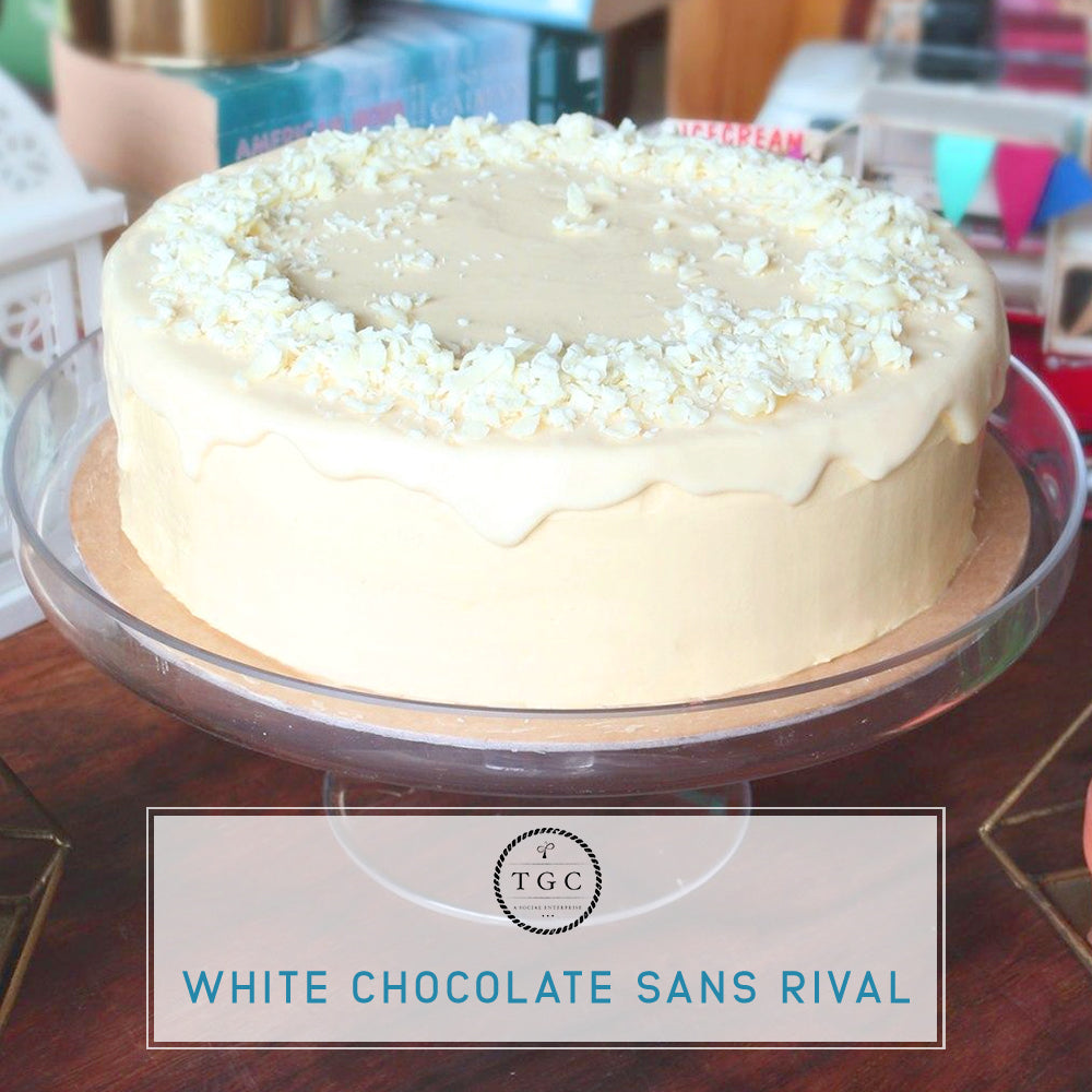 White Chocolate Sans Rival Cake